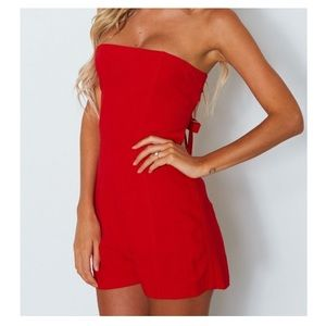 d91d394a012 NWOT - White Fox Boutique Playsuit In Fiery Red